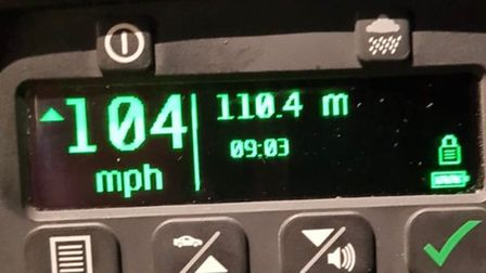 A man was caught doing 104mph in a 70mph limit zone in Acle.