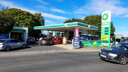 Queues at the BP garage on Plumstead Road
