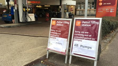 No fuel at Sainsburys on Queen's Road