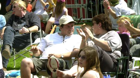 Enjoying the sounds at Clare World Music Festival in 2002
