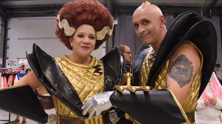 David and Jan Gregory in costume from the Rocky Horror Show at the Nor-Con at the Norfolk Showground