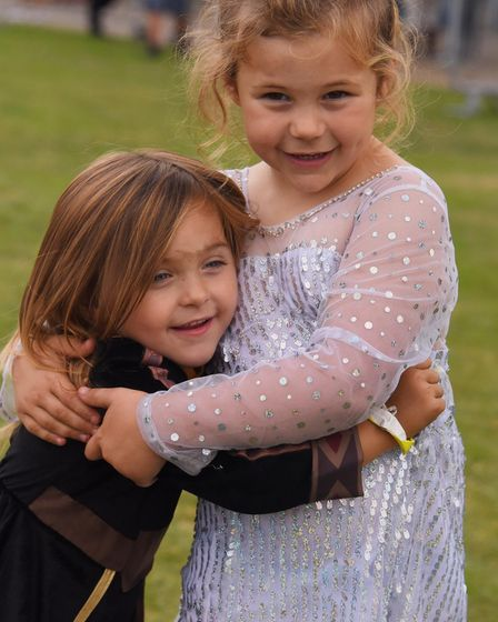 Nor-Con at the Norfolk Showground. Olivia Cole, five, from Swanton Morley, as Elsa, and her sister,