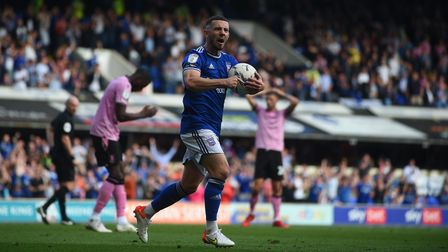 Conor Chaplin celebrates after scoring the late equaliser against Sheffield Wednesday
