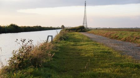 The moorings and land at the New Cut at Haddiscoe which was the subject of a police probe into the B