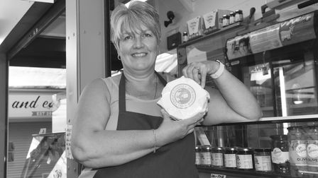 Faces of Norwich market photo essay. Paula Taylor from the Cheeseman. Norwich market. Pictures Britt