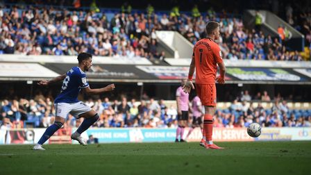 Macauley Bonne pounces after waiting silently and patiently behind against Sheffield Wednesday keepe