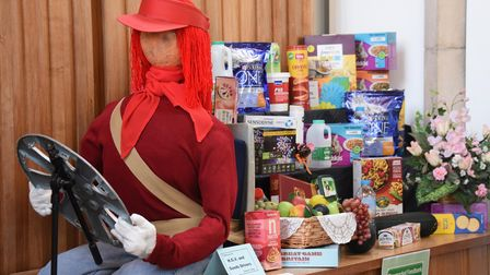 An HGV driver scarecrow at the Stowmarket United Reform Church's Scarecrow Harvest Festival to thank