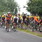 The start of the Beccles Cycle for Life charity ride.