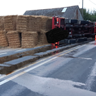 The A1101 near Mildenhall has been closed due to an overturned lorry