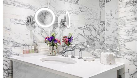 One of the Studio Suite bathrooms at the Marylebone Hotel