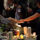 Members of the public attend a vigil in memory of Sabina Nessa, and in solidarity against violence a