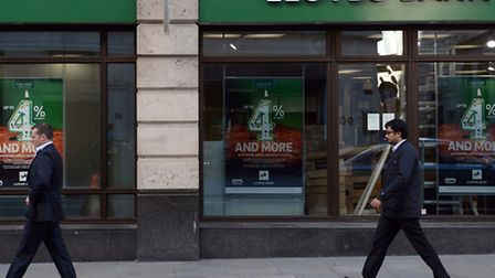 File photo dated 28/10/14 of a branch of Lloyds Bank in the City of London, as the group is reported