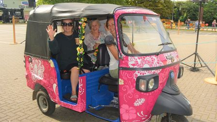 Nellie's community tuk tuk was out in force at Soham Pumpkin Fair 2021