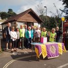 Budleigh Salterton Lions Club members stage the Duck Race Raffle