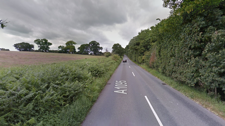 A fallen tree on the A1095 is causing some delays near the A12