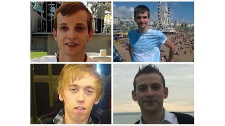 Stephen Port victims clockwise from top left: Gabriel Kovari, Daniel Whitworth, Jack Taylor and Ant