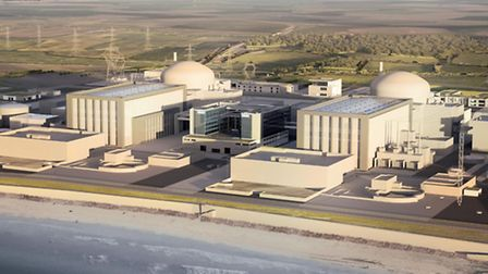 Artist's impression issued by EDF of the how the new Hinkley Point C station will look. Photo: EDF E
