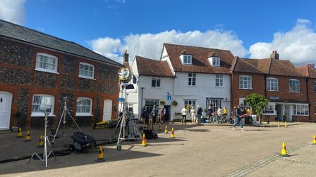 Film crews have been spotted in Lavenham
