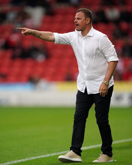 Doncaster Rovers manager Richie Wellens gestures on the touchline during the pre-season friendly mat