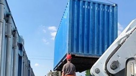 A shipping container seized by the Environment Agency