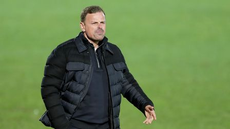 Salford City manager Richie Wellens on the touchline during the Sky Bet League Two match at Moor Lan