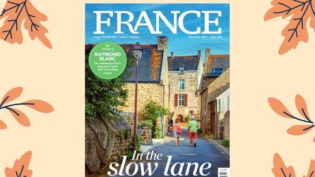 FRANCE Magazine's November 2021 cover with an autumnal background