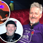 Stephen Fry and Johnny Vegas (inset) have joined Griff Rhys Jones' Ipswich show