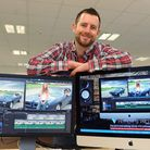 Josh Davies, CEO and founder of FXHOME, with their new product for the film maker, HITFILM 3 Pro. Pi