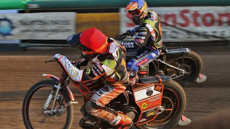 Jason Edwards and Jordan Jenkins in action for Mildenhall Fen Tigers
