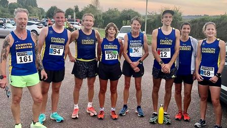 Harriers on race duty at the Run Exe 5km