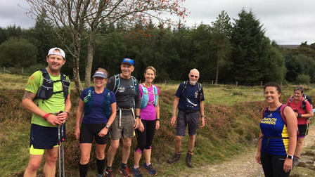All smiles at the Chagford Challenge