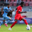 Leyton Orient's Daniel Nkrumah (right) in action during the pre-season match at The Breyer Group Sta
