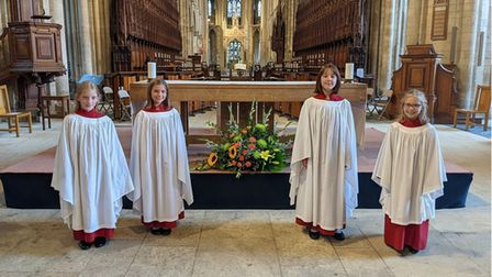 Year five students who are now part of the choir family at Peterborough Cathedral