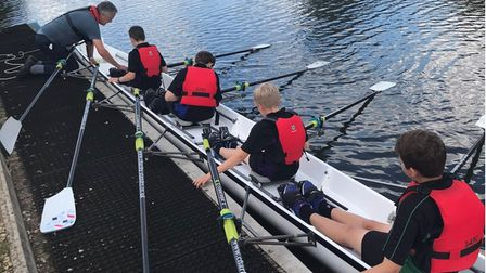 Ely College rowers - one of five recipients of Gemini Boat Race bursary