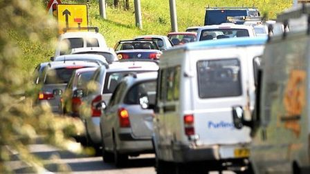 An abnormal load being escorted along the A12 and A14 could cause delays this morning