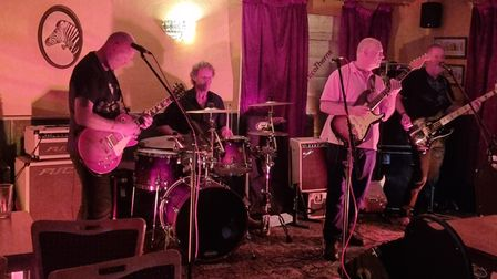 A band playing at the beer and blues festival at The Royal Standard in Dereham