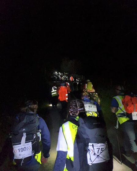 Ely officer, PC Lucy Holderness started her climb just before midnight on September 25
