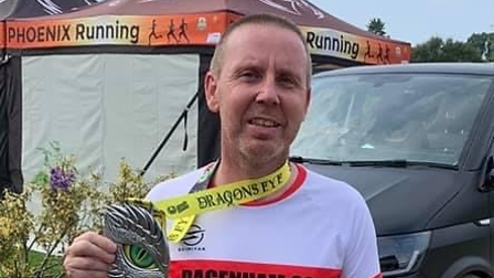 Dagenham 88 Runners' Andrew Wright completed his 78th marathon by taking part in the Phoenix Running Dragons Eye event