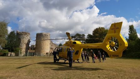 The air ambulance has been called to a medical emergency in Bungay