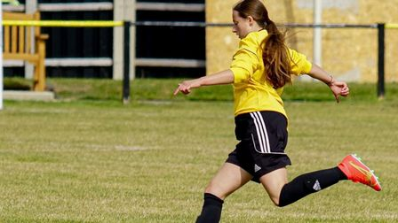 Eleanor McLeish in action for March Town Ladies