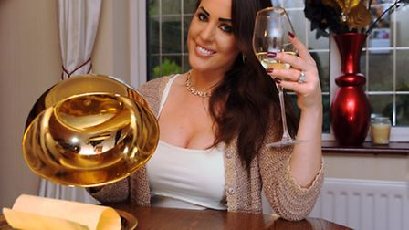 Polly Guy celebrates becoming the Come Dine With Me Champion of Champions. Picture: DENISE BRADLEY