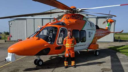 Dr Scott Castell has been working with Magpas Air Ambulance for four years