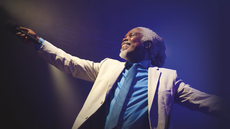 Billy Ocean performs at the Cambridge Corn Exchange on October 13