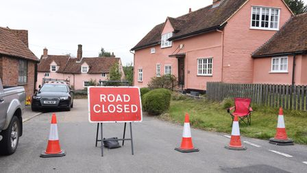 Kersey Road closure due to filming PICTURE; CHARLOTTE BOND