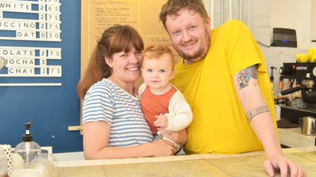 David and Eleanor Nickerson-Smith opened Quaff East Coffee in Beccles in the middle of the pandemic.