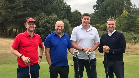 The Shawbrooks Bank team take to the course to raise money for Suffolk mentoring programmes
