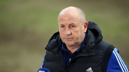 File photo dated 27-03-2021 of Accrington Stanley manager John Coleman is interviewed after the fina