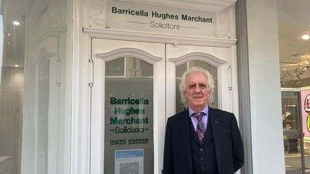 Solicitor John Hughes who has retired