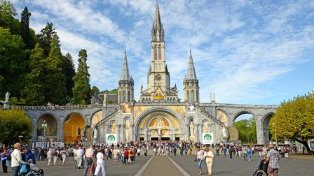 The church and domaine at Lourdes, France