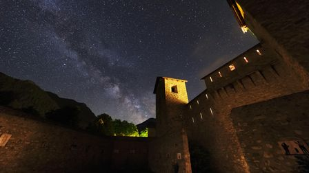 The Mercantour under the stars at night